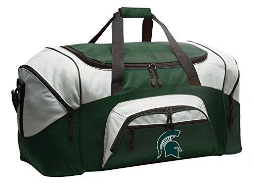 Broad Bay Michigan State Duffle Bag Michigan State University Gym Bag Large by Broad Bay