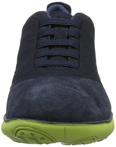 Geox Menns Nebula 17 Sneaker Navy / Limegrønn