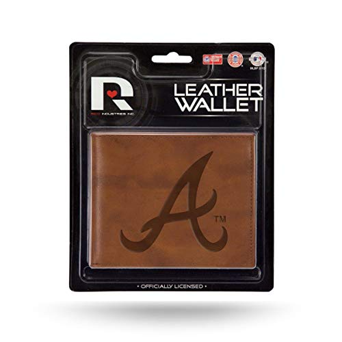 - Rico Atlanta Braves MLB Embossed Brown Leather Billfold Wallet