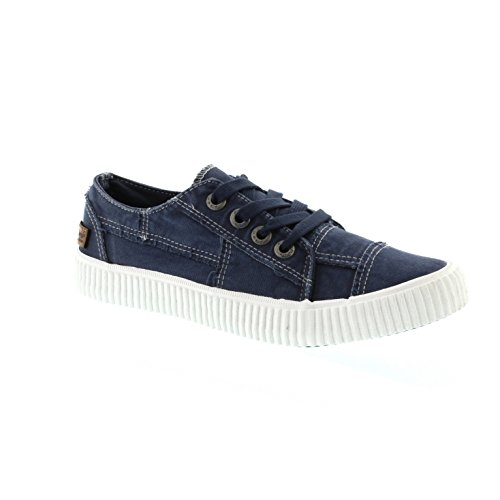 Blowfish Cablee – Navy Washed Canvas (Textile) Womens Trainers 6.5 US