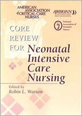 Download online Core Review Neonatal Intensive Care Nursing PDF