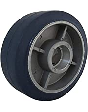 RWM Casters Elastometric High Tensile Non-Marking Rubber on Aluminum Wheel, Ball Bearing, 820-Pounds Capacity, 6-Inch Wheel Dia, 2-Inch Wheel Width, 2-1/2-Inch Plate Length