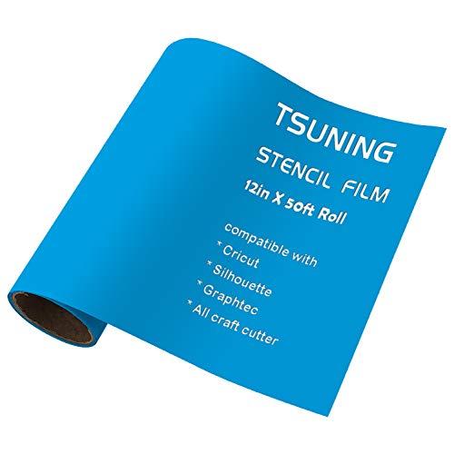 (Stencil Film Roll Vinyl - 12.125 in X 50ft for Cricut, DIY Crafting, Silhouette, Cameo Vinyl Stencil Film, craft cutters)