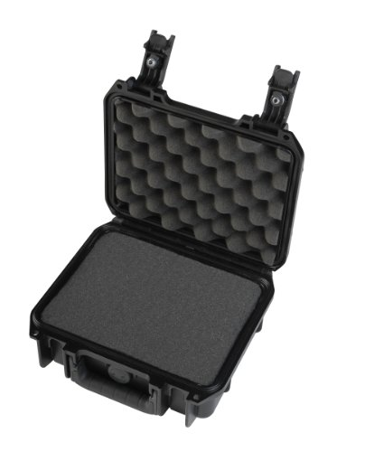 SKB Injection Molded Cubed Foam Equipment Case (Black, 9- Inch x 7- Inch x 4- Inch) ()