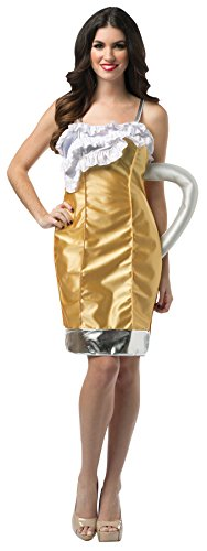 UHC Women's Beer Mug Outfit Funny Theme Party Fancy Dress Halloween Costume, OS (Beer Mug Womens Dress Costumes)