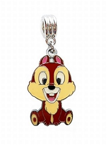 CHIP AND DALE CHIPMUNKS JEWELRY CHARM SLIDER PENDANT ADD TO YOUR NECKLACE, DIY PROJECTS, ZIPPER PULL, ETC.