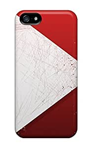 KwRIzYH5883VUXsn Anti-scratch Case Cover ConnieJCole Protective Abstract Red Paint Arrows Case For Iphone 5/5s