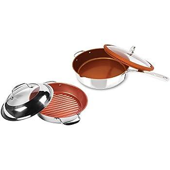 Amazon Com Nuwave 12 Inch Everyday Pan Amp Bbq Grill Pan