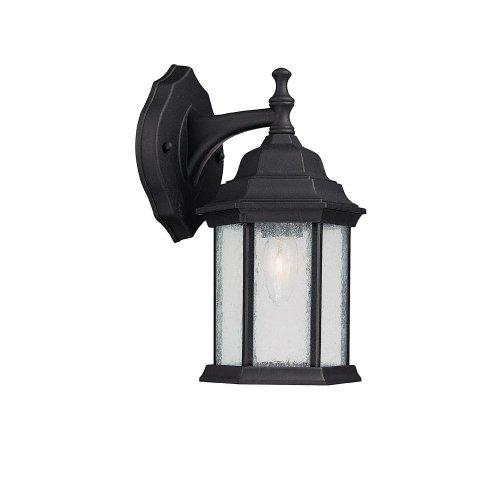 Capital Lighting 9832BK Main Street 1-Light Outdoor Wall Lantern, Black with Seeded Glass (Capital Lighting Main Street)