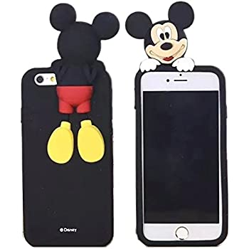 iphone 6 plus micky mouse leather flap case