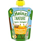 Heinz By Nature Organic Baby Food - Banana, Brown Rice & Quinoa Purée - 128mL Pouch (Pack of 6)