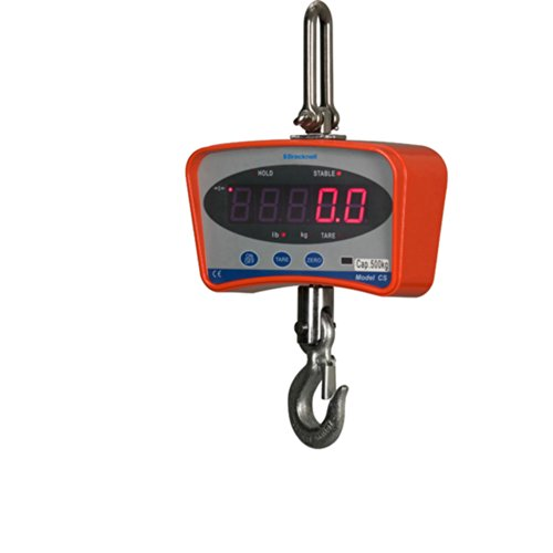 Brecknell CS Series Electronic Crane Scale, 1000 lb Capacity, Visible LED, Remote Control, Dual Power ()