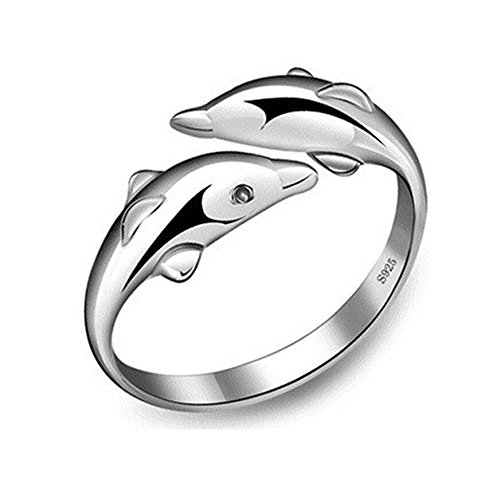 creativelife-925-sterling-silver-lovely-double-dolphin-tail-ring-adjustable-size