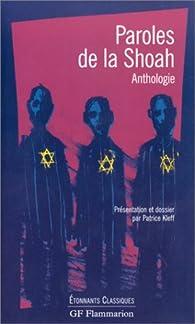 Paroles de la Shoah : Anthologie par Patrice Kleff