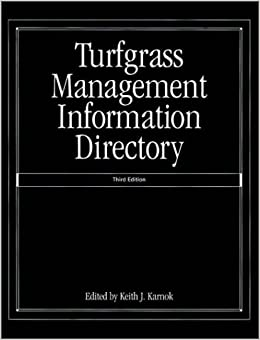 Turfgrass Management Information Directory