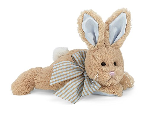 Bearington Baby Bunny Tail Plush Stuffed Animal Bunny with Rattle, 8 inches