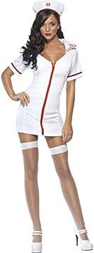 Smiffys-22016L Miffy Disfraz Fever de enfermera, con vestido y ...