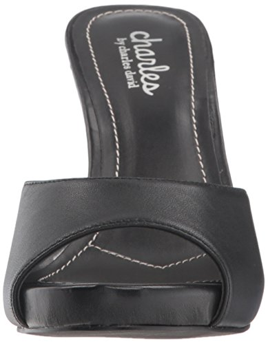 by David Heeled Women's Black Sandal Charles Carmen Charles vEwqPcdFv