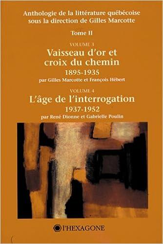 Téléchargement Anthologie de la littérature québécoise pdf