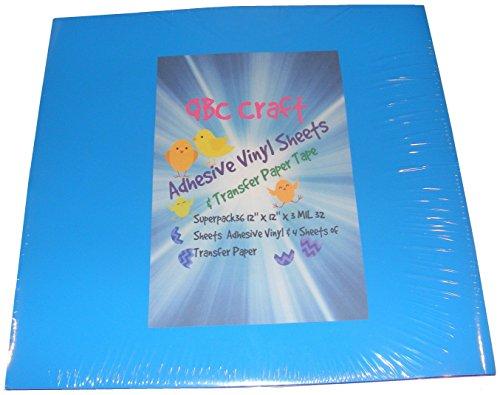 Qbc Craft 12x12 Permanent Adhesive Vinyl Sheets 36 Pack