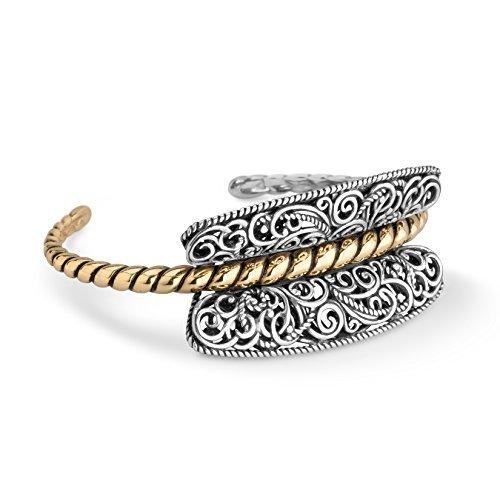 Carolyn Pollack Genuine Sterling Silver Brass Filigree Rope ()