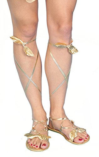 Forum Novelties Women's Goddess Costume Sandals, Gold, One Size