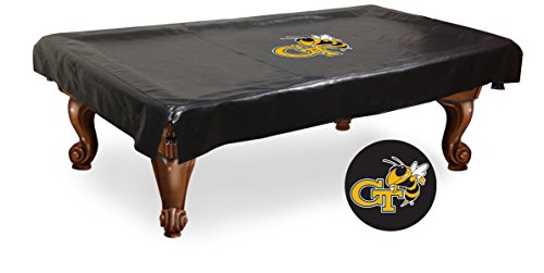 NCAA 7ft Pool Table Cover by Holland Bar Stool - Georgia Tech (Tech Pool Table Cover)