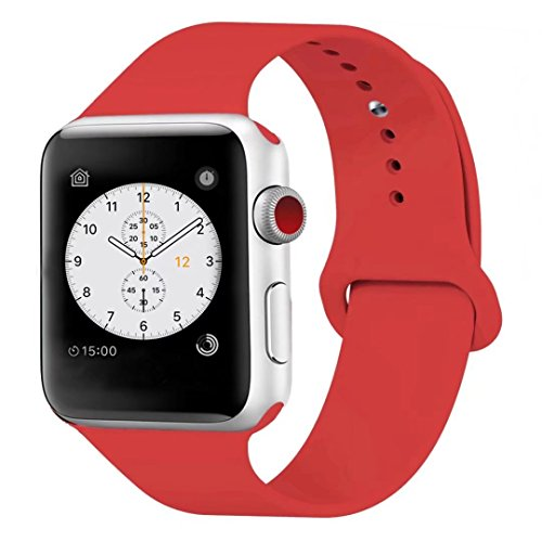 Silicone Watchband Replacement for Apple Watch 42mm (Red) - 7