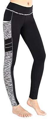 Munvot Yoga Pants Gym Fitness Workout Leggings Printed Pants With Pocket