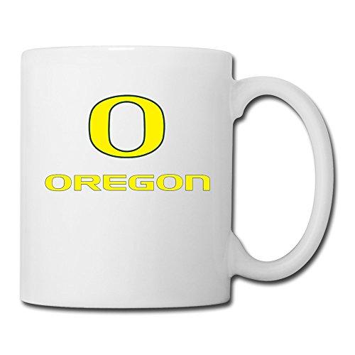 (White Oregon Ducks Sab04Fl Ceramic Mug Cup 11oz Unisex Printed On Both Sides)