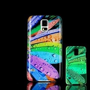 YULIN Modelo de flores que brillan en el caso duro oscuro para i9600 Samsung Galaxy S5