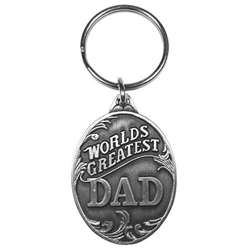 Siskiyou Sports World's Greatest Dad Antiqued Keyring