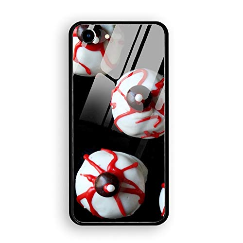 Halloween Eyeball Cake Custom iPhone 7/8 Cover Slim Fit Tempered Glass for iPhone 7/8 Case -