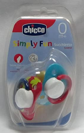 Chicco Chupete Simply Fun Anatómico 0m+ 2 Uds: Amazon.es ...