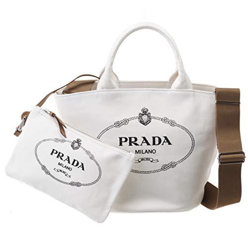 PRADA(プラダ) トートバッグ カナパ キャンバス ファブリック 2WAYバッグ ポーチ付き 2WAYトートバッグ 1BG186OOO ZKI 009 [並行輸入品] B07NHBJBVC