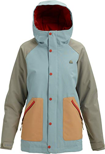 Burton Glove Womens Snowboard (Burton Women's Eastfall Jacket, Abyss/Hawk/Camel, Medium)