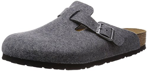 Birkenstock Boston 160361 - Grey (Textile) Womens Clogs 42 EU by Birkenstock