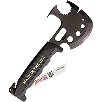 Off Grid Tools OGT-SA100 Survival Axe Elite Multitool-Made In the USA,, Black and Gold