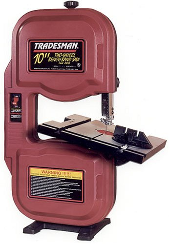 UPC 000999816804, Tradesman 8168 10-Inch 1/3 Horsepower Benchtop Woodworking Band Saw with Micro Adjustable Guide Blocks, 120 Volt 1 Phase
