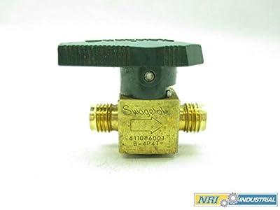 Swagelok B-4p4t Quarter Turn 1/4 In Tube Fitting Brass Plug Valve D463473 by SWAGELOK