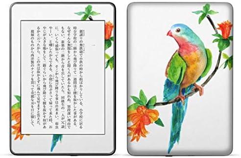 igsticker kindle paperwhite 第4世代 専用スキンシール キンドル ペーパーホワイト タブレット 電子書籍 裏表2枚セット カバー 保護 フィルム ステッカー 016279 植物 草 鳥