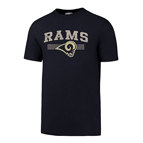 OTS NFL Los Angeles Rams Men's Rival Tee, Light Navy, ()