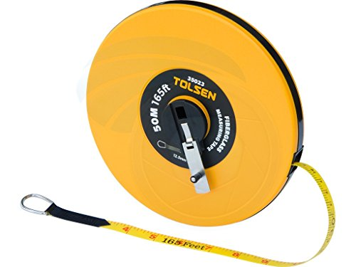 (50M 165FT Constriction Imperial Metric Fiberglass Measuring Tape Reel)