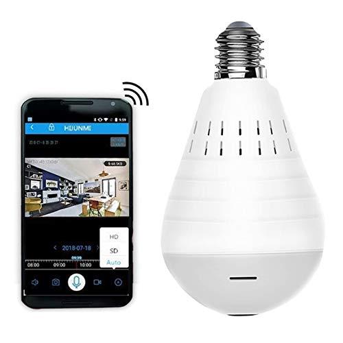 Light Bulb Camera Dome Surveillance Cam 1080P WiFi Home Security Cameras 360° Panoramic Baby Pet Monitor
