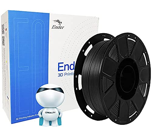 Creality Ender Series- PLA 3D Printer Filament 1.75mm, Upgrade Stronger Toughness Printing Consumables, Dimensional Accuracy ± 0.03 mm, 1 KG (2.2 LBS) Spool Fit Most FDM 3D Printer (Black)