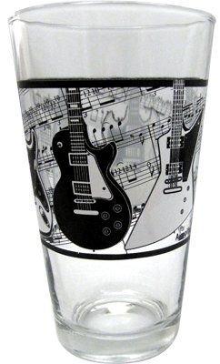 Vaso de vidrio con guitarras eléctricas y diseño de pentagrama y música, regalo para músicos: Amazon.es: Instrumentos musicales