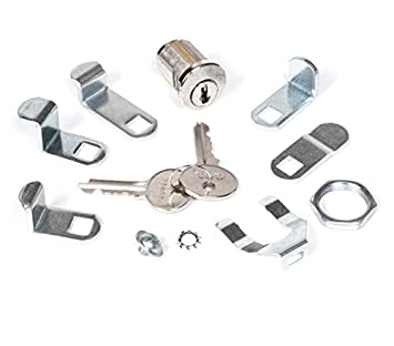 CCL Security 82011 Multicam Mailbox Nut Two Keys Includes Selection of Five Mounting Clip 1 Count Lock Washer and Cam Screw