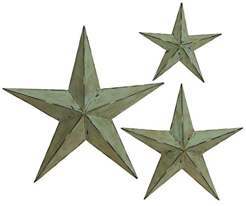 deco 79 metal wall star 24 inch 18 inch and 12 inch set of 3 - Star Wall Decor