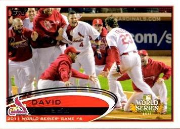 Commemorative 2012 World Series - 2012 Topps '11 World Series Game 6 Commemorative Baseball Card - David Freese
