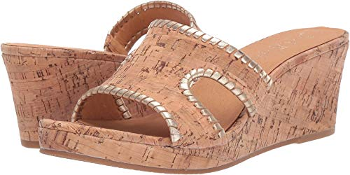 - Jack Rogers Women's Sloane Mid Wedge Cork/Gold 6 M US